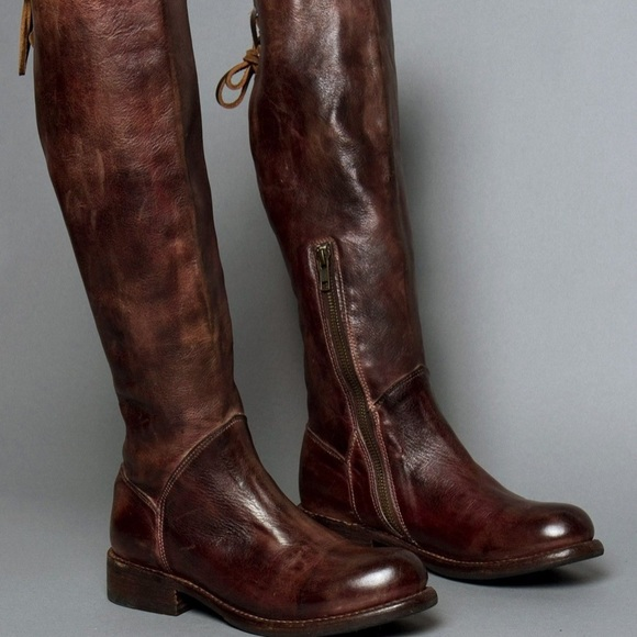 NWT Bed Stu Manchester Teak Riding Boot w/ Lace